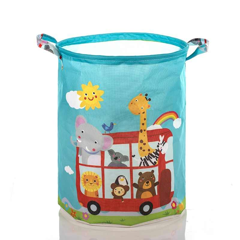 SDARISB 35*45cm Waterproof Storage Basket Bag Toy Dirty Laundry Basket Bag Clothes Toys Storage Box Sundries Fabric Folding