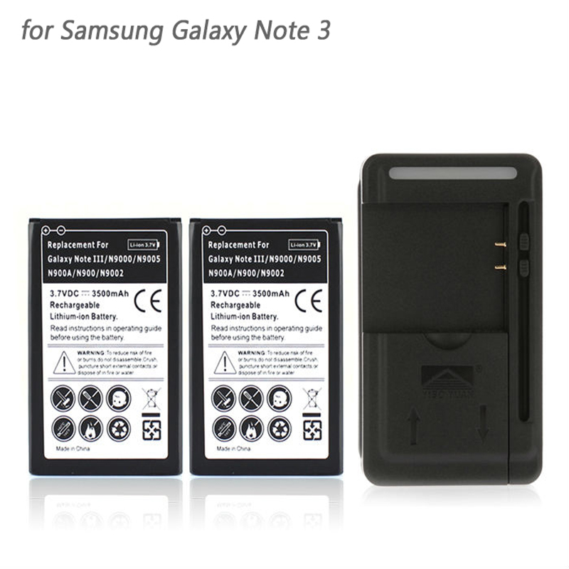 for Samsung Galaxy Note 3 III 2x 3500mah Phone Backup
