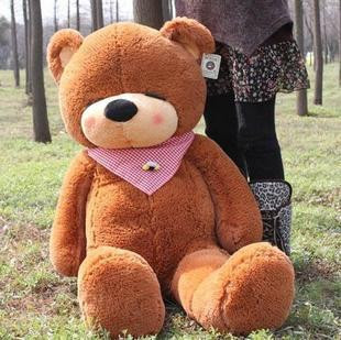 Stuffed animal plush 160cm dark brown teddy bear Sleepy bear toy doll gift present w1098