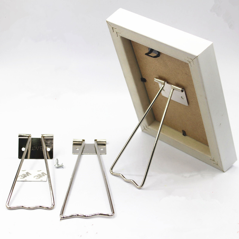 2pcs Different Sizes! Iron Metal Back Support Picture Bracket Photo Frame Pedestal Holder For 5 8 10 12 Inch Display Easel Stand