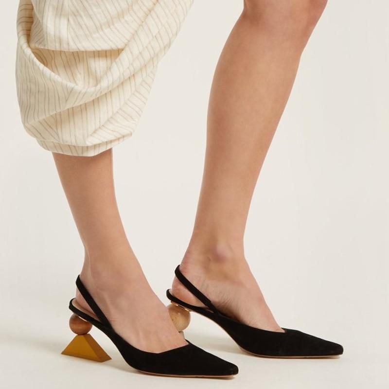 Cm Suede Talons Designer Mode 8 as Mariage Étrange Shown Chaussures De Haute Valentine Été As Femmes Shown Noir Pompes Robe Sandale Sandales qR0zIdczw