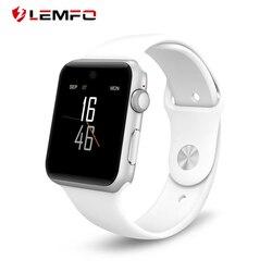 Lemfo bluetooth relógio inteligente lf07 smartwatch para apple iphone ios android smartphones parece apple relógio reloj inteligente