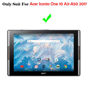 Image 2 - Für Acer Iconia One 10 A3 A50 10,1 Tablet Fall Abdeckung Für Acer Iconia One 10 A3 A50 Funda Druck Flip Leder Stehen Coque + Stylus