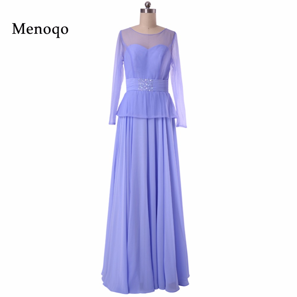 2019 Real Photo Mother Of the Bride Dresses New Arrival A line Long sleeve Sexy Floor Length Chiffon Evening Dresses