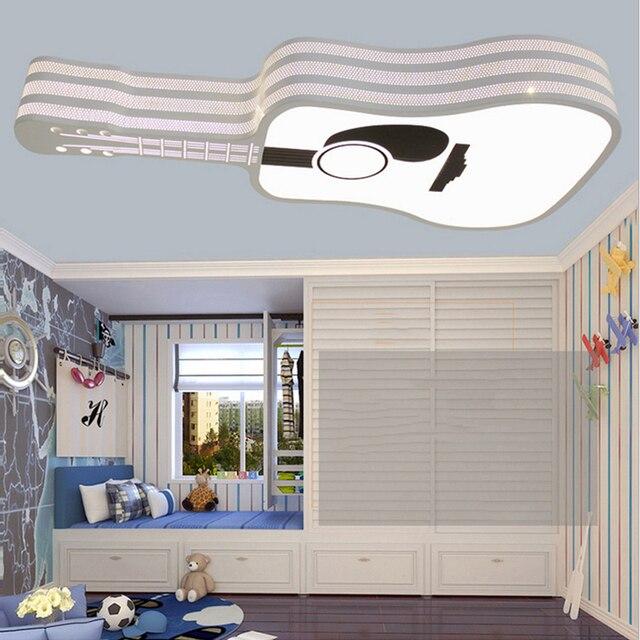 kids room ceiling light flush mount new creative guitar led iron acrylic ceiling light modern fashion cartoon for kids room bedroom