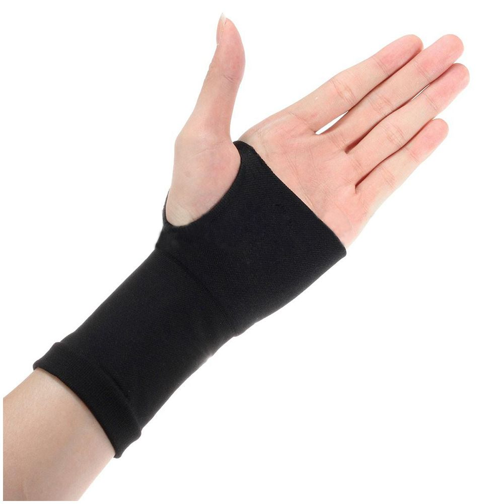 New Sale a pair of Thumb Brace Carpal Tunnel Wrist Elastic Hand Support Strap Bandage Compress, Black, S