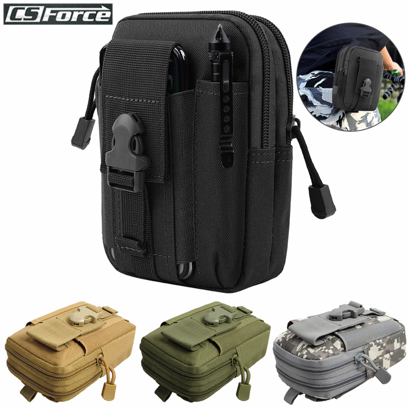 Tactical Molle Pouch Waist Bag Waterproof Nylon Multifunction Casual Men EDC Tool Bag Small Bag Mobile Phone Case Hunting Bag car seat
