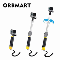 ORBMART Transparent Adjustable Extend Floating Buoyancy Selfie Stick For Gopro Hero 5 6 Xiaomi YI SJCAM Action Sport Camera