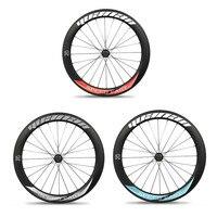 3 Años de garantía road race tubelss ruedas llantas aero habló chino oem ruedas 700c ruedas de bicicleta de 60mm piezas de bicicleta
