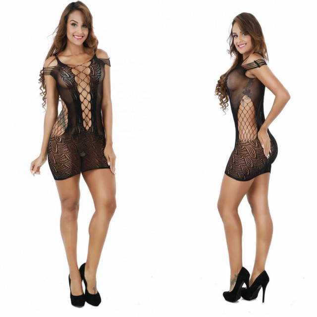 PLUS SIZE HOT MESH LINGERIE (2 COLORS)