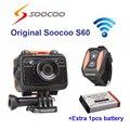 Frete grátis!! Original Soocoo S60 Wi-fi de Mergulho À Prova D' Água 1080 P Full HD Ação Esporte Cam com Controle Remoto + Extra 1 pcs bateria
