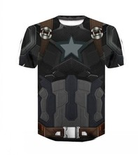 2019 summer new avengers 4 ultimate game quantum kingdom battle suit Cosplay costume t shirt men casual short sleeve