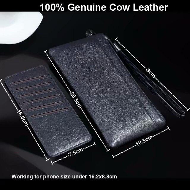 Pochette en cuir de vache véritable pour téléphone portable pochette pour Huawei Honor 9 Lite, Mate 10 Lite, Nova 2i, Honor 9i/7X, Maimang 6
