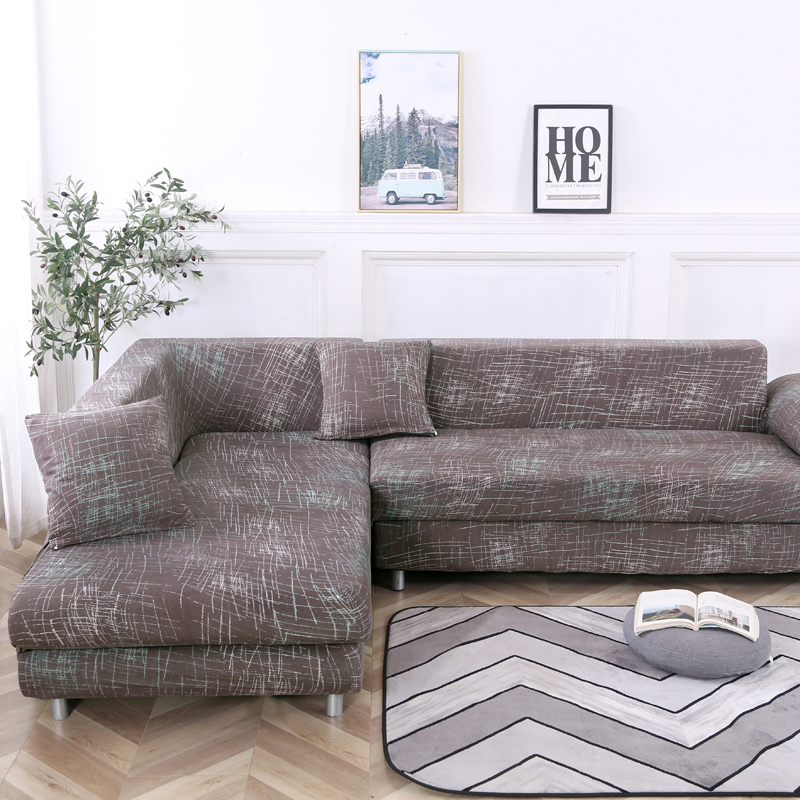 corner <font><b>sofa</b></font> covers spandex for living room L shaped <font><b>sofa</b></font> slipcovers elastic couch cover fully wrapped dustproof 1/2/3/4 seat image