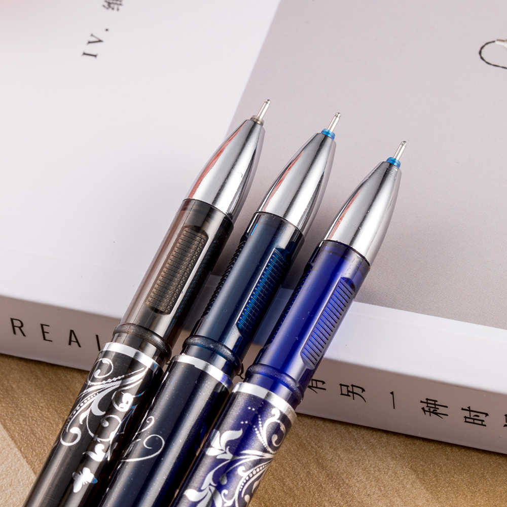 1 piezas pluma borrable azul/negro/azul tinta pluma mágica suministros de oficina estudiante examen SpareSchool suministros