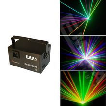 R&G&B Super Mini Projector DJ Disco LED Light Stage Party Laser Lighting Show Plug