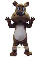 Щенок Прекрасный талисман коричневая собака талисман костюмы на Хэллоуин взрослых Необычные платья
