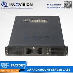 Stabiele 19 2U rackmount case RC2630A-2 ondersteunt MAX 12 * 13 ATX M/B met Drie paralle expansioneel slots voor volledige hoogte Kaart