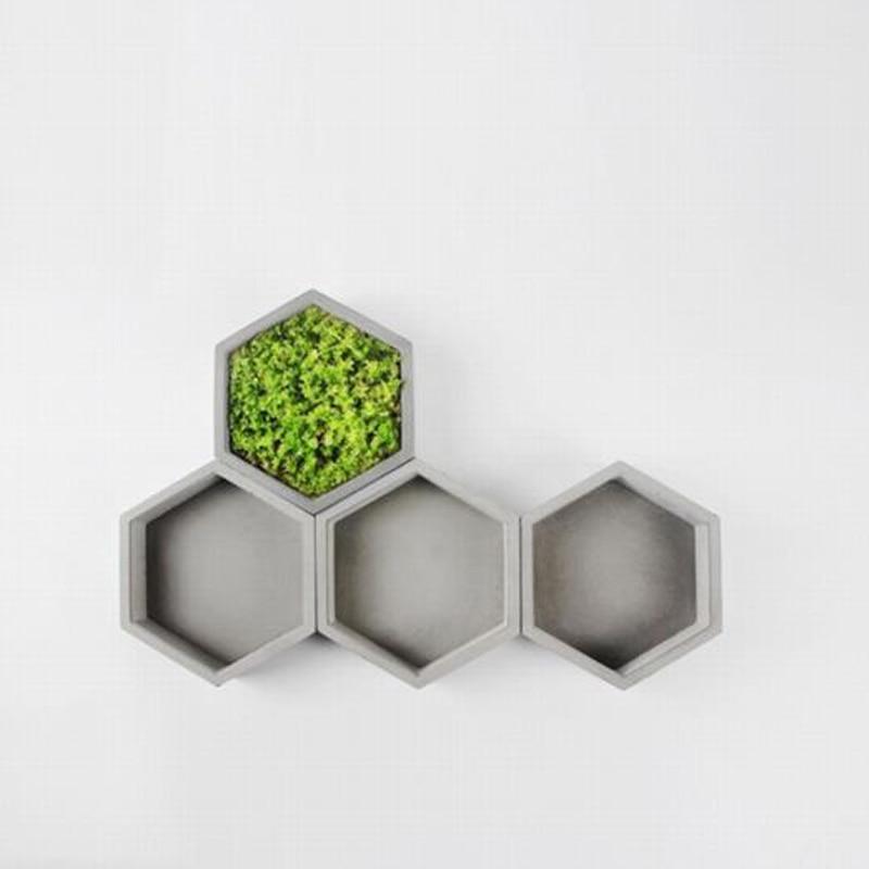 Geometric Polygon Concrete Planter Silicone Mold Home Decoration Craft Potting Concrete Plant Cement Vase Molds 3D Custom
