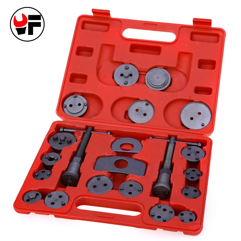 YOFE 21pcs Universal Car Disc Brake Caliper Wind Back Brake Piston Compressor Tool Kit For Most Automobiles Garage Repair Tool 2 pair universal car 3d style disc brake caliper covers front rear