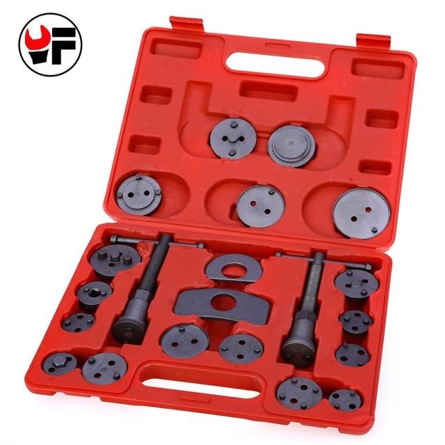 YOFE 21pcs Universal Car Disc Brake Caliper Wind Back Brake Piston Compressor Tool Kit For Most Automobiles Garage Repair Tool