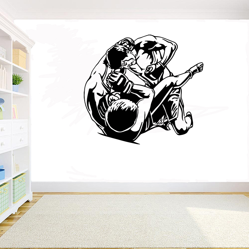 New Stock Mma Fight Fighters Vinyl Wall Decal Arts Martial Sport Stickers Martial Room Mural Interior Wall Decor Wallpaper Lc618 Wall Stickers Aliexpress