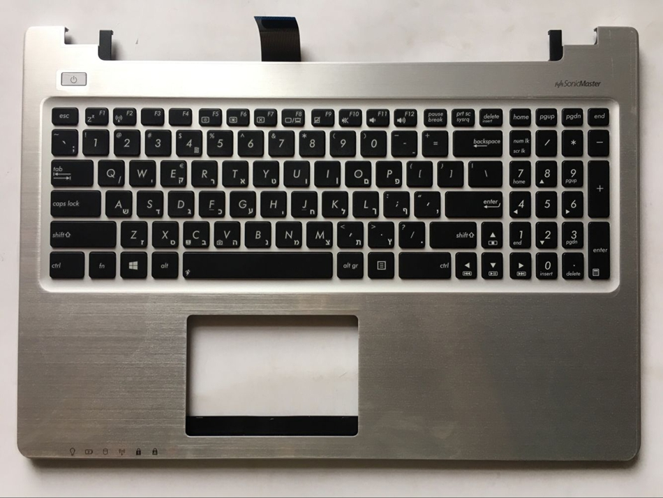 HE Hebrew keyboard for Asus K56 k56C K56CB K56CM K56CA A56 A56C S56C S56 keyboard HE Layout