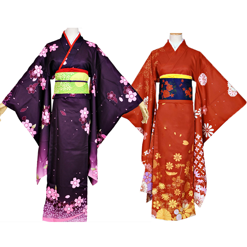 Kantai collection Kai Ni Yuudachi kimono cosplay costumes