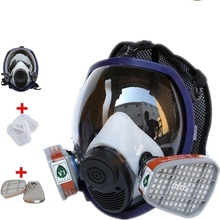 Respirator Gas Mask Anti-dust / Organic Air/Acid Gas/Ammonia Gas Safety Helmet Industry Painting Spraying Gas Mask Promotion