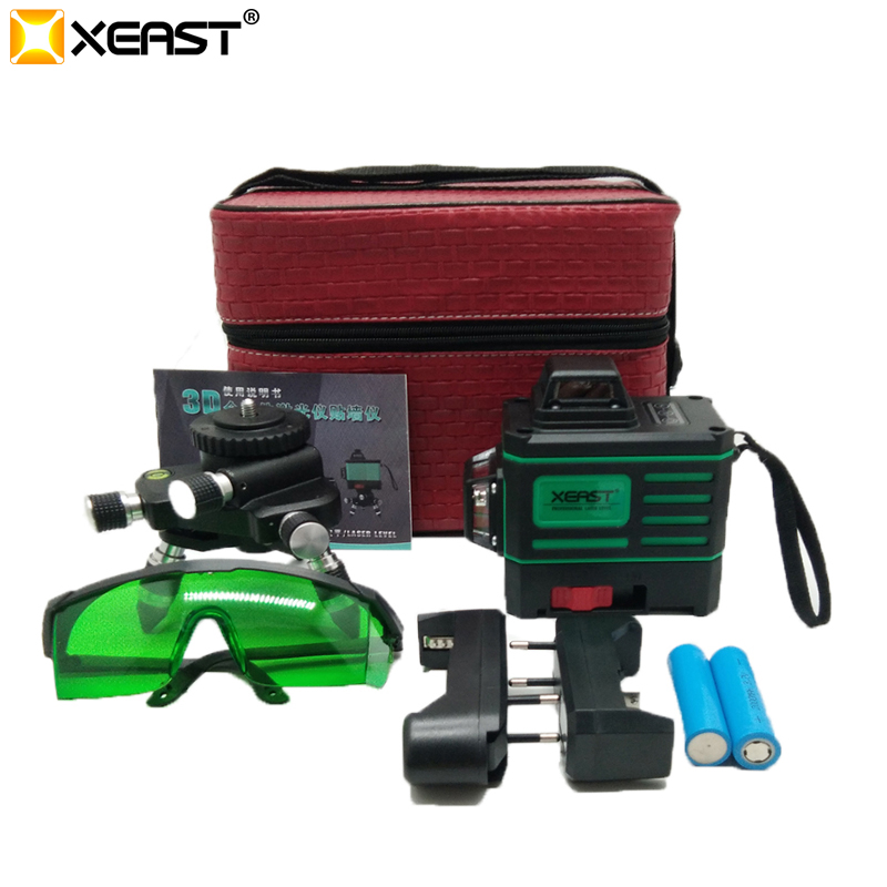 XEAST Green beam Wall levels 360 degree Vertical and Horizontal Self leveling Rotary Laser Level touch control