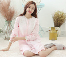 2017 New Autumn Style Fashion NEW sexy Women s Sleepwear nightgown Women s Home Clothes sleepshirt