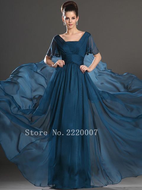 Plus Size A Linha Mãe dos Vestidos de Noiva Da Moda Vestidos de Babados Elegante Chiffon Long A Linha Backless Mangas Curtas Com Cercadura