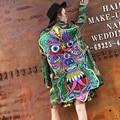 Melinda Style 2016 New Women Autumn Ghost Head Letter Badge Camouflage Jacket Coat Female Fashion Sequined Jackets Coat A696