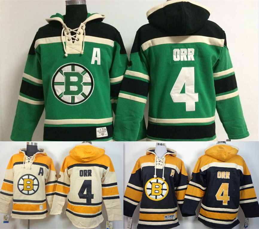 Boston Bruins winter classic Jersey Orr GREEN WHITE BLACK  4 Bobby Orr  Hoodie Ice Hockey Fleece embroidered Cashmere Hoodie-in Hockey Jerseys from  Sports ... cff03b837