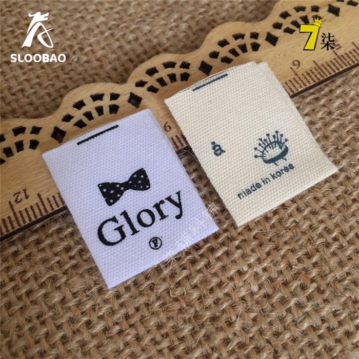 Custom Cotton Cloth End Fold Labels White Color Cotton Labels For