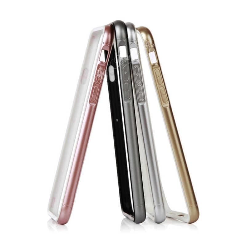 スリムソフトシリコーンゲルバンパーフレームのための iphone 6 6S プラス 5 5S 、 SE 高級電話ケースオリジナルローズゴールドシルバーグレー