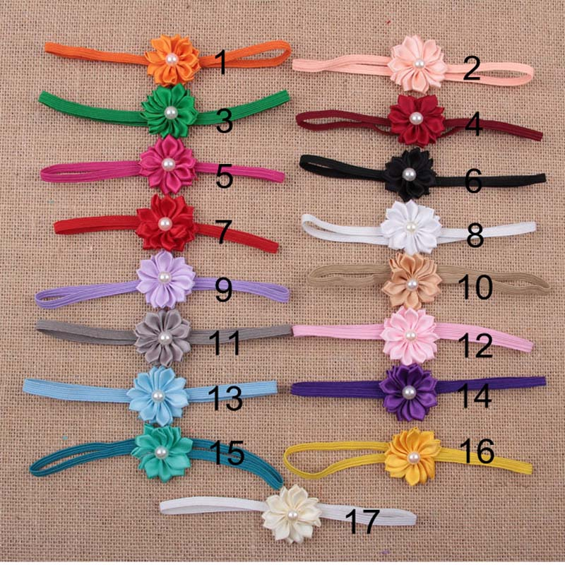 Wholesale 120pcs lot Flower Headband Fabric Flower For Girl s Hair Accessories Girls Headdress