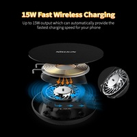 15W Fast Wireless Charger,Nillkin Qi Fast Wireless Charging Pad Nylon for iPhone XS Max/XS/8 For Samsung S9/Note 8/S8 Mi Mix 3