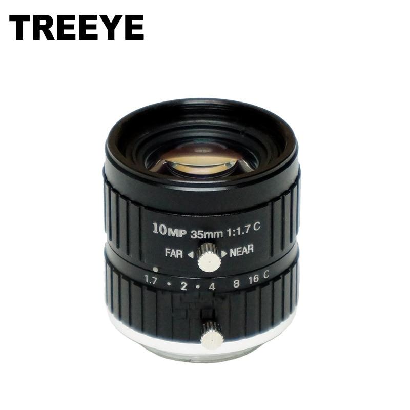 HD 10MP CCTV Camera Lens 35mm 10Megalpixel C Mount Manual Iris Focus F1 7 Aperture 1