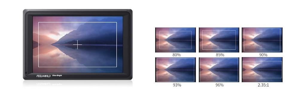 Feelworld FW279 7 Cal IPS 2200 nitów kamera Monitor zewnętrzny 4K HDMI wejście wyjście 1920X1200 Monitor LCD do DSLR stabilizator 10