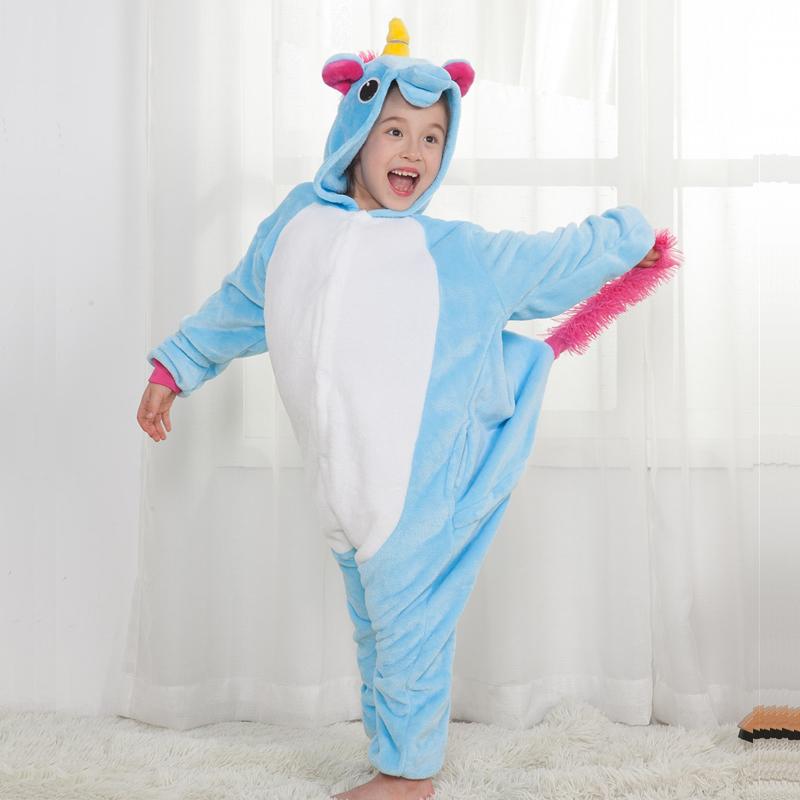 зимние детские Пэм Рио косплей дети мальчик девочка панда Дино Stack мультфильм косплей onesie пижамы Пэм rods