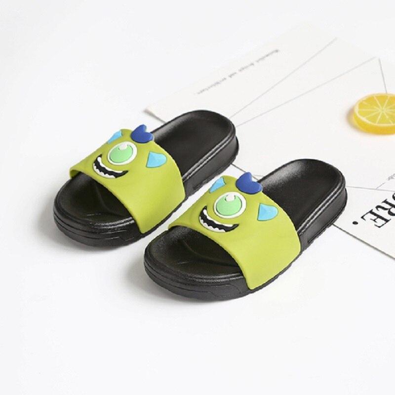Breathable Kids Slippers Children Cute Cartoon Boys Girls Kids Sandals Soft Bottom Indoor Baby Flat Heel Neutral Unisex Slip