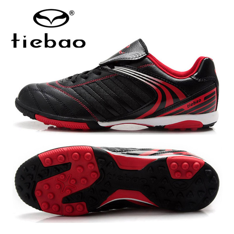 TIEBAO Brand Professional Adult Outdoor Sports Football Soccer Shoes TF Turf Rubber Soles For Kids Men Training Sneakers Boots tiebao brand football soccer shoes children kids athletic training football sneakers outdoor sport tf turf soles football shoes