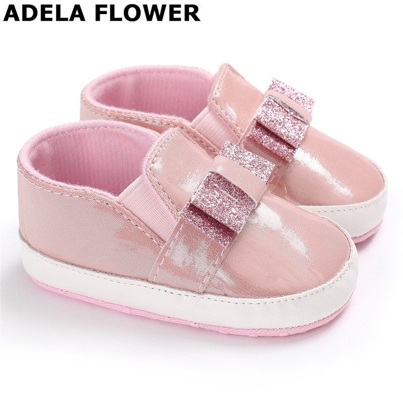 Adela Flower Baby Moccasins Kids Girls Party Princess Casual Shoes Soft Flats Bow Baby Girl Shoes First Walkers bebek ayakkabi