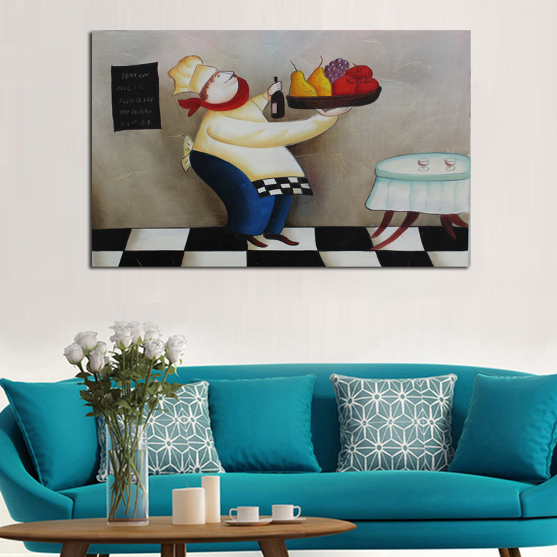 New Handpainted Lively Abstract Art Skillful Cook Oil Paintings on Canvas Abstract Wall Sticks for Home Decor