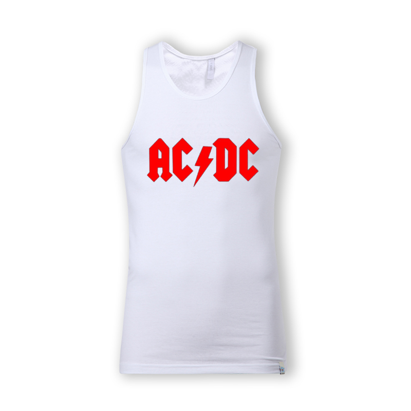2879cdcd697929 Men s Tank Top Rock Metal Band Red Logo Printed Black Sleeveless T Shirt  Cotton Casual Music College Vests Size S 2XL custom tee-in Tank Tops from  Men s ...