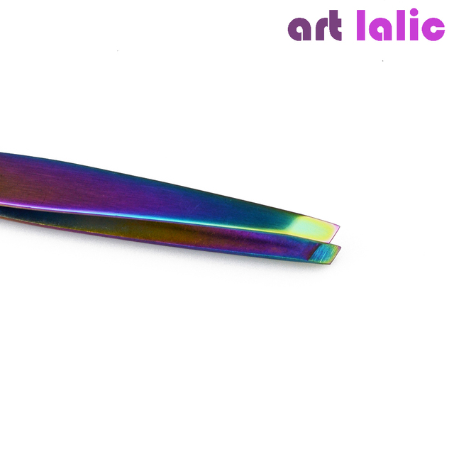 1PC Angled Slanted Eyebrow Tweezers Stainless Steel Face Hair Removal Eye Brow Trimmer Eyelash Clip Cosmetic Beauty Makeup Tool 2