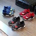 Новые Осень-Весна Дети Shoes Паук Ночь Вспышки Спорт Кроссовки Свет Shoes for Kids детская Тапки Мальчики сапоги Девушки