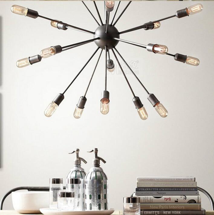 Sputnik Style Chandelier: 18 head Loft Style Sputnik Chandelier American Warehouse Light Dining Room  Lights With Eedison Bulbs Free,Lighting