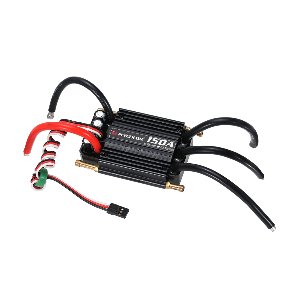 Original Waterproof 150A Brushless ESC Electronic Speed Controller with 5.5V/5A BEC for RC Boat 1pcs rc boat brushless esc waterproof 50a esc 2 6sbec 5 5v 5a electric speed controller for gasoline boats spare parts